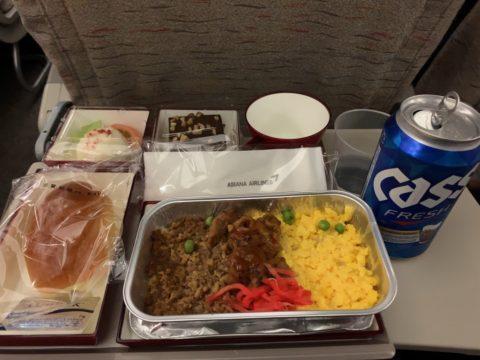 ソウルの男ひとり旅はどんな感じ?機内食