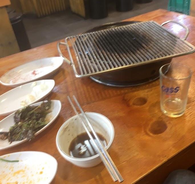 ソレカルメギ・ソウル駅店でひとり焼き肉・ごちそうさま